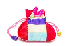 Корейское традиционное новое year& x27; сумка s удачливая изолированная на белизне Стоковое Изображение RF