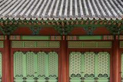 Корейское традиционное здание стоковое фото