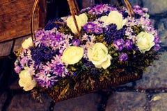 корзина букета цветка весны Стоковое Фото