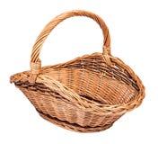 Корзина винтажного weave плетеная Стоковые Фотографии RF