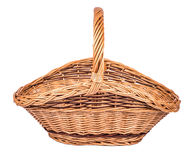 Корзина винтажного weave плетеная Стоковое Фото