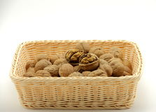 Корзина грецкого ореха Стоковые Фото