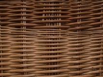 Корзина деревенской текстуры плетеная Стоковое Фото