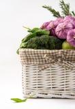Корзина овощей Стоковые Изображения