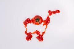 Корзина от кетчуп томата. Стоковые Изображения RF