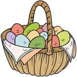 Корзина пасхального яйца Стоковое Изображение