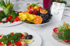 Корзина плодоовощ, сбор плодоовощ Стоковая Фотография RF