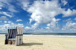 Корзина пляжа на Sylt Стоковое фото RF