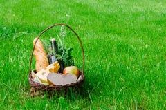 Корзина с едой для пикника Стоковые Изображения RF