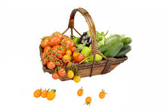 Корзина с овощами Стоковое Изображение RF