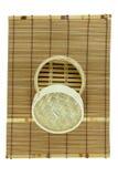 корзина Тускл-суммы на циновке Стоковая Фотография RF