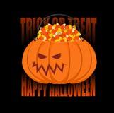 Корзина тыквы на хеллоуин выходка обслуживания Конфета мозоли для ter Стоковая Фотография RF