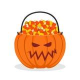 Корзина тыквы на хеллоуин выходка обслуживания Конфета мозоли для ter Стоковые Изображения