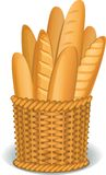 Корзина хлеба бесплатная иллюстрация