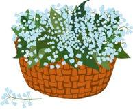 Корзина цветя лилий Стоковое фото RF