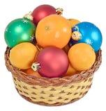 Корзина шариков рождества Стоковая Фотография RF