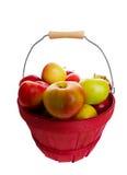 корзина яблока Стоковое Фото