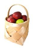 корзина яблок вкусная Стоковое Изображение