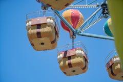 Корзина Carousel на парке атракционов детей стоковое фото