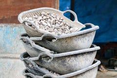 корзина Clam-раковины форменная Стоковые Фото