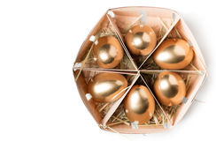 корзина eggs золотистое Стоковое фото RF