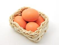 корзина eggs квадрат Стоковое Изображение