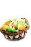 корзина eggs много Стоковые Изображения