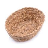 корзина weave плетеная изолированная на белой предпосылке Стоковое Изображение