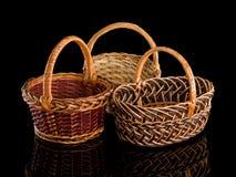 3 корзины бакалеи от штаног Стоковые Фотографии RF