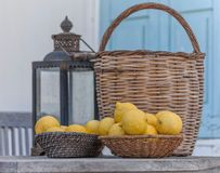 Корзины лимонов Стоковые Изображения