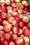 Корзины красных яблок Стоковая Фотография RF