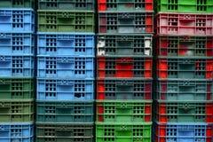 Корзины на рыбном базаре Стоковое Фото