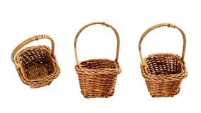 корзины опорожняют Стоковая Фотография
