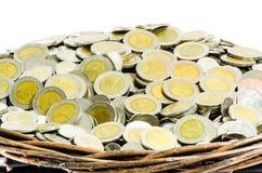 Корзины подарка монетки Стоковое Изображение