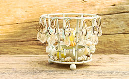 Корзины подарка на старом деревянном годе сбора винограда стиля Стоковое Фото