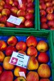 Корзины свежих яблок Стоковое Фото