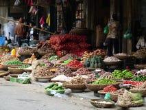 Корзины сырцовых овощей Стоковая Фотография