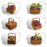 Корзины с плодоовощ Стоковые Фото