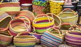 корзины цветастые Стоковая Фотография RF