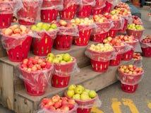 Корзины яблок Стоковые Изображения