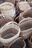 Корзины Handmade соломы плетеные Стоковое Изображение