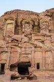 Коринфская усыпальница в nabatean городе petra Иордании Стоковые Изображения