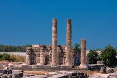Коринфские столбцы в Letoun, Турции Стоковое фото RF