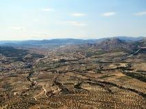Коринф, сногсшибательная панорама Пелопоннеса стоковое изображение