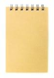 коричневая бумага тетради крышки рециркулирует Стоковое Фото