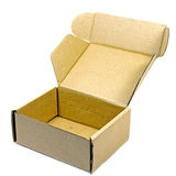 коричневая бумажная коробка Стоковые Изображения RF