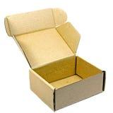 коричневая бумажная коробка Стоковая Фотография