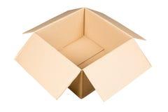 коричневая бумажная коробка Стоковое Изображение