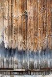 коричневая дверь деревянная Стоковая Фотография RF