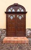 коричневая дверь славная Стоковые Фотографии RF